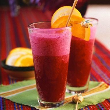 Jugo para la anemia de remolacha, zanahoria y naranja
