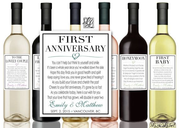 17 best images about first marriage milestone for first wine bottle labels