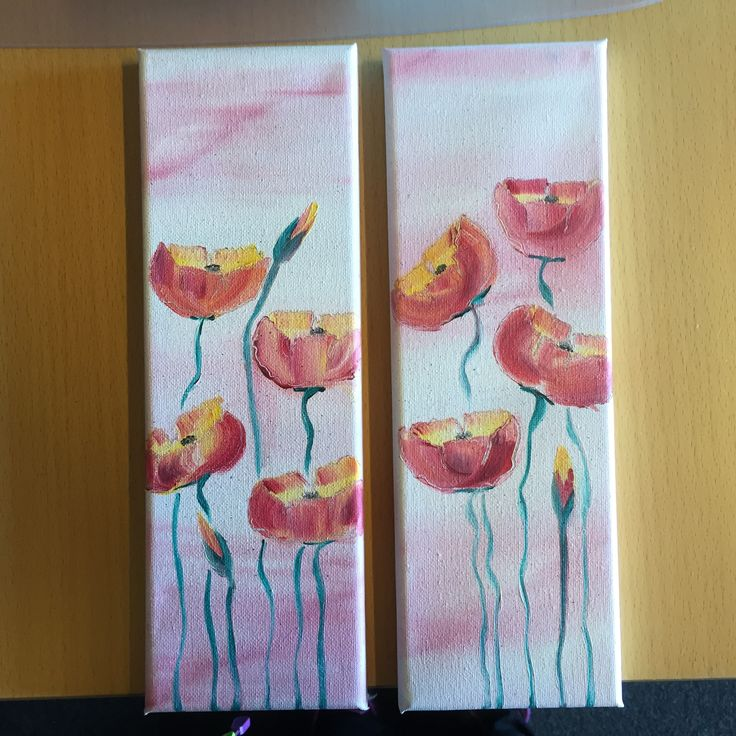 Small poppies. oil on canvas