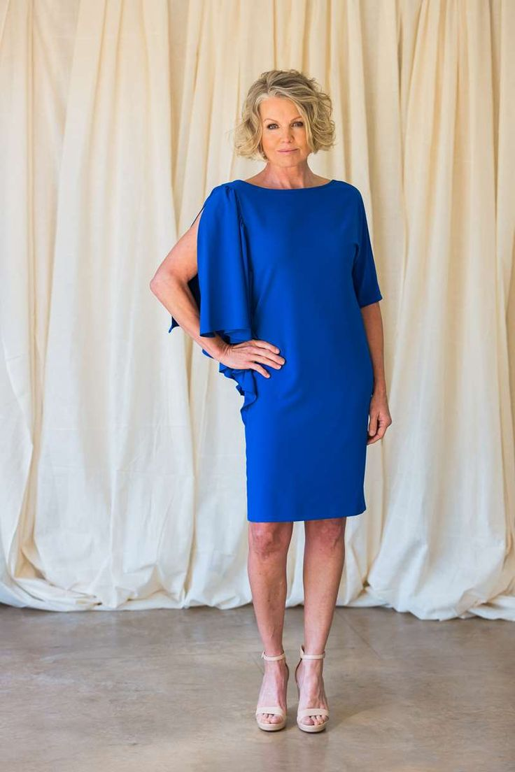 """A+D.Exterior+cocoon+silhouette+knee+length+dress+features+V+neckline+at+the+back+and+detailed+3/4+frill+sleeve+on+one+side+this+dress+is+easy+elegance+at+its+best.<span+style=""""color:+#999999;""""><em>RRP:+$420</em></span>"""