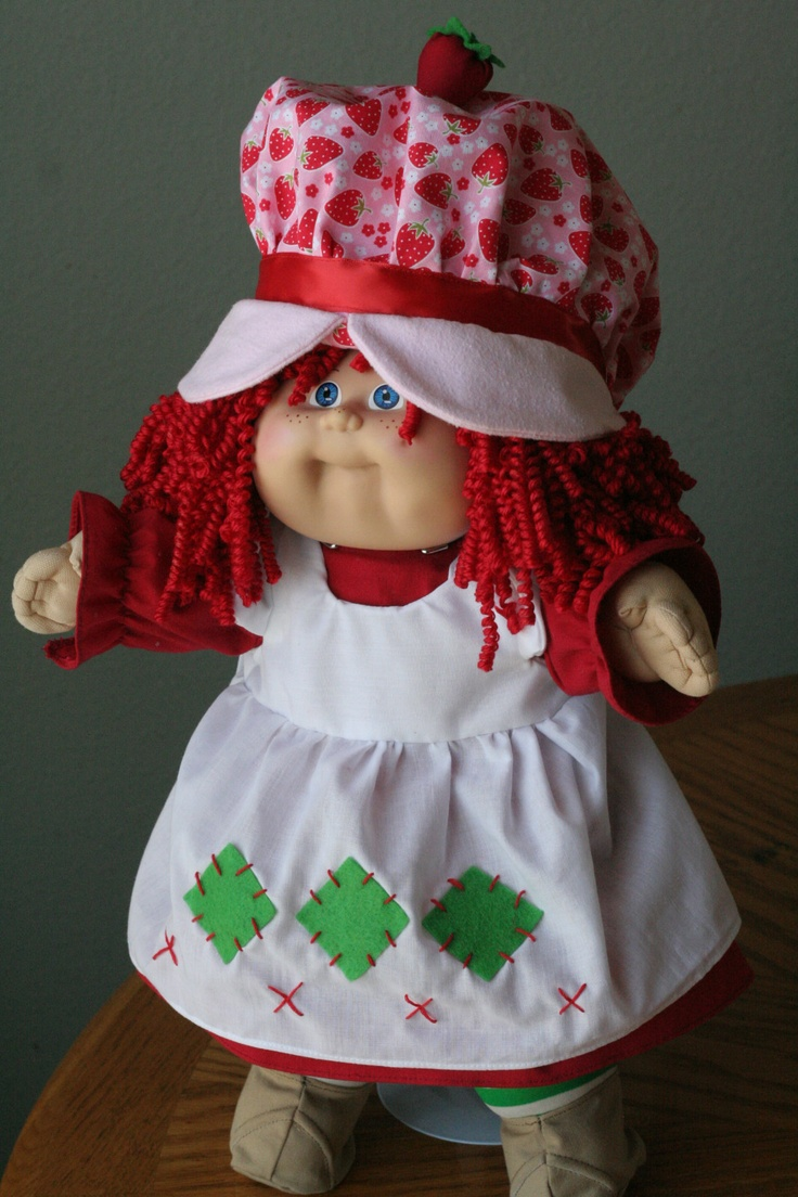 Ooak Custom Reroot Cabbage Patch Kid Strawberry Shortcake #8 Freckles  Scented