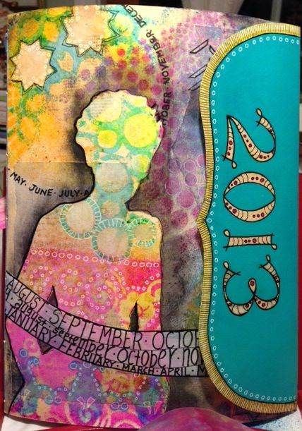 Playing With Paint: MAKING AN ART JOURNAL CALENDAR FOR 2013-Ginny Markley is so talented.  Love her art.