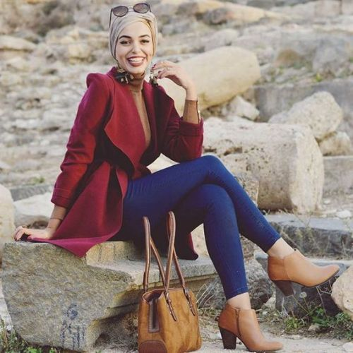 Ways a hijabi can wear denim with ankle boots– Just Trendy Girls