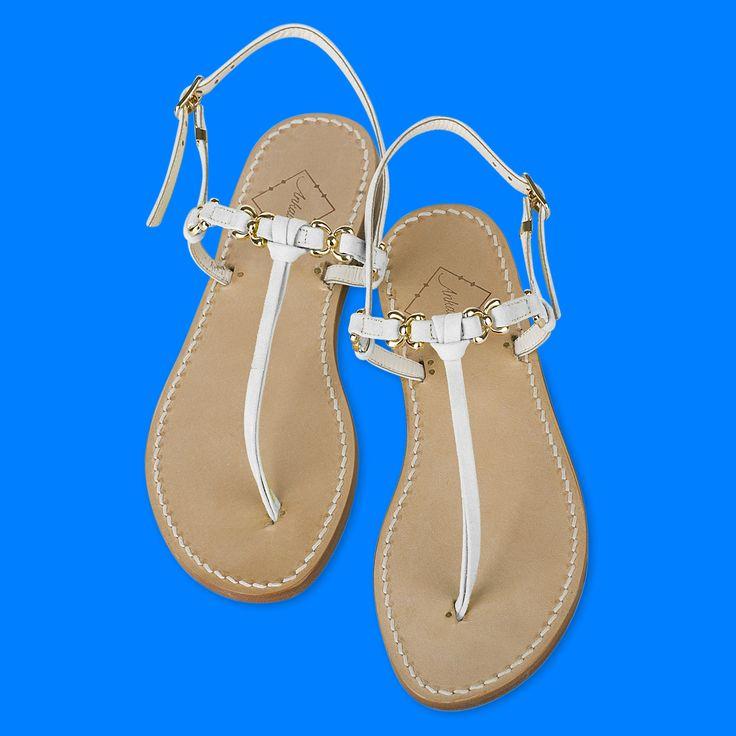 Lara sandals in white leather. Choose your heel -2cm or flats. Worldwide shipping. #ankaliadesigns #ankalia #larasandals