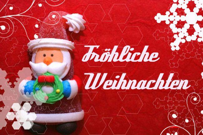 Рождественская открытка на немецком языке 3 класс
