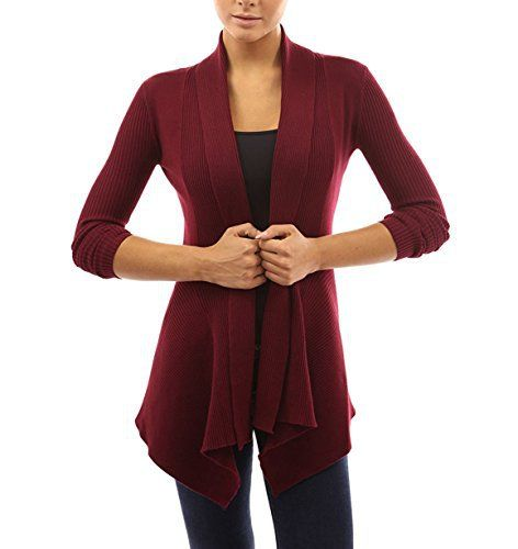 Cardigans Women with Shawl Collar Drape Sweaters Blouses Casual by Azot