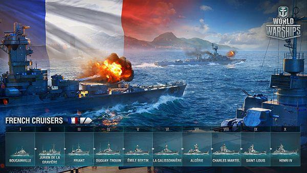 Fransız Kruvazörleri World of Warships Limanlarına Yanaştı