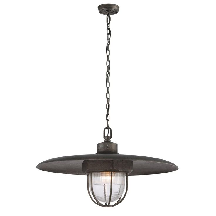 Troy Lighting Acme 1-Light Aged Silver Pendant