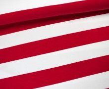 Sweat - Blockstreifen - Rot/Weiß - 5cm - Sari