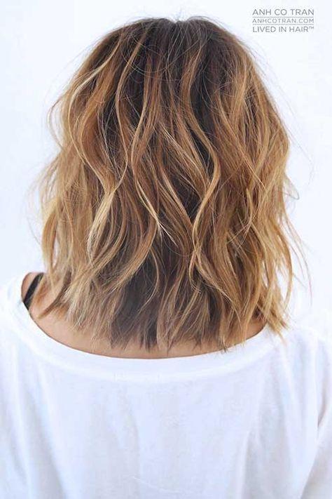 Frisuren 2018 Frauen Mittellang Dauerwelle  Frisuren Modrn