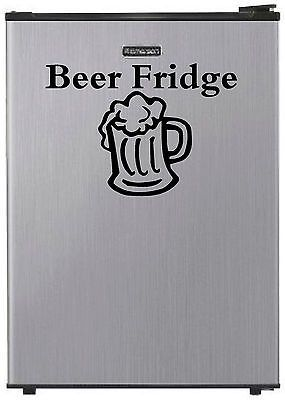 "#""beer fridge"" #vinyl decal refrigerator sticker dorm man cave mini #garage wall, View more on the LINK: http://www.zeppy.io/product/gb/2/121461800321/"