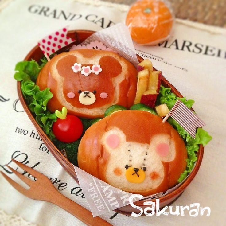 くまのがっこう♪ロールパンサンド☆ by Sakuran at 2014-1-21