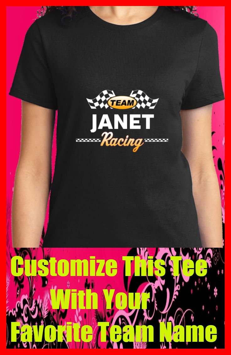 Design your own t shirt made in usa - Customize Your Favorite Racing Team Name On This Tee Fitted Womens T Shirt Quality Tagless