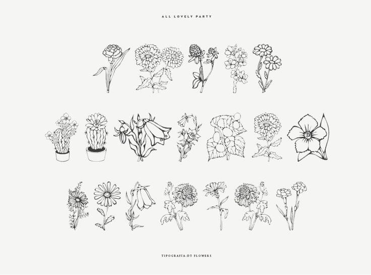 Tipografía gratis de flores para invitaciones