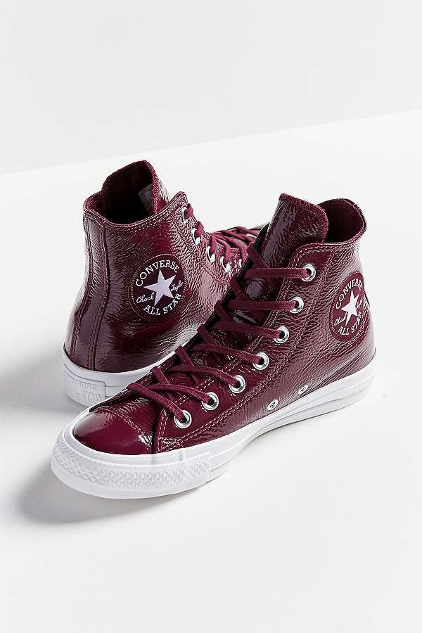 c8ae2e5281ec Slide View  3  Converse Chuck Taylor All Star Patent Leather High Top  Trainers
