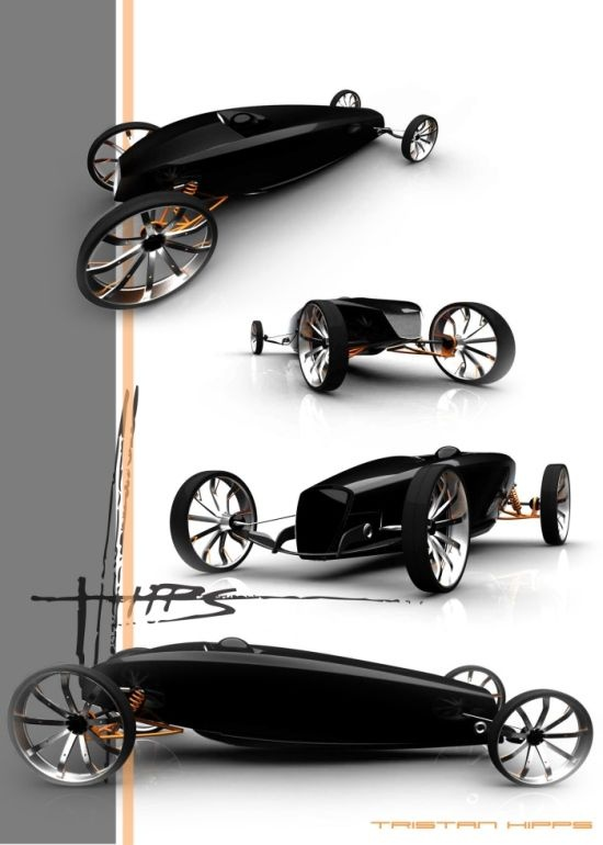 The hotrod concept by Tristan Hipps looks aggressive, as all hotrods should, and it manages a sleek and smooth design. This of course goes well with the designer's idea of blending classic hot rod roadster feel with a modern day form language. With power-train coming from Mazda's formula race car, this is going to be one awesome hotrod. More specifically, power comes from a Mazda Rotary Valve engine mated to a six-speed sequential transaxle transmission to transfer power to the tarmac.