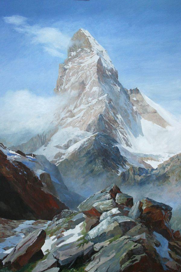 The Matterhorn, an original oil painting by Rob Piercy