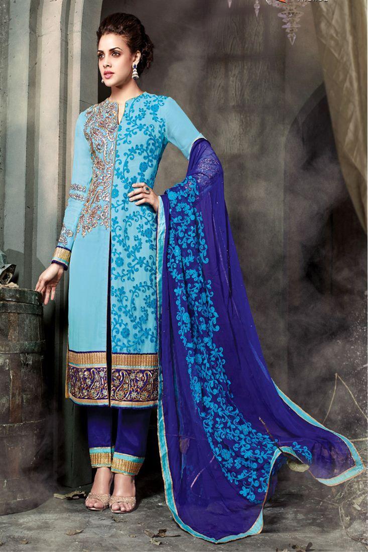 Charming Blue Designer Suit