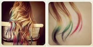 Risultati immagini per capelli punte colorate