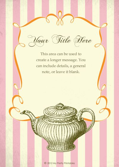 free pingg design: Vintage Tea Party