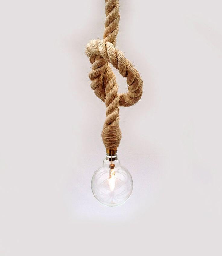 Decorative Nautical Sisal Rope / Eco Glass Globe Lamp / Ceiling Light (70.00 GBP) by UniquesCo