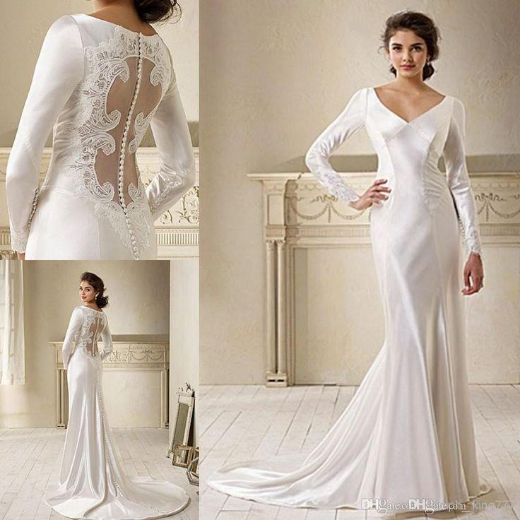 2015 Movie Star In Breaking Dawn Bella Swan Long Sleeve Lace Wedding Dress Bridal Gown On Sale Hs222 Bridal Couture Casual Wedding Dress From King777, $262.08| Dhgate.Com