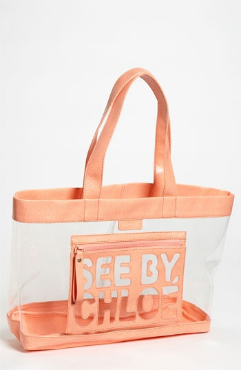 Chloe 'Zip File' Transparent Tote- perfect beach tote.