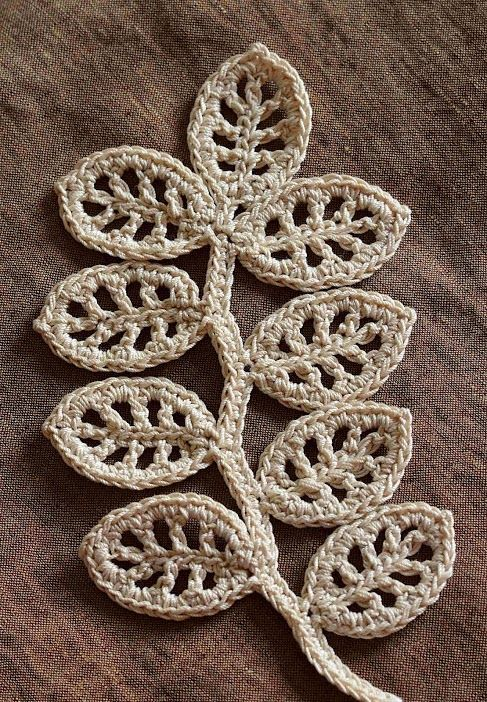 Irish Crochet. Branch pattern/tutorial. √