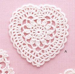 #freecrochet Lace Heart Crochet Pattern Diagram. More Great Looks Like This
