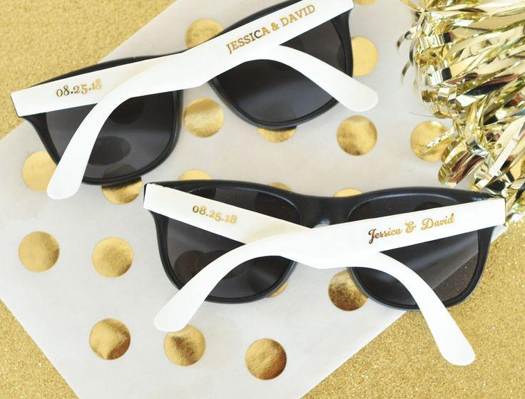 Personalized Wedding Sunglasses at Wedding Favorites   Unique Wedding Favors  