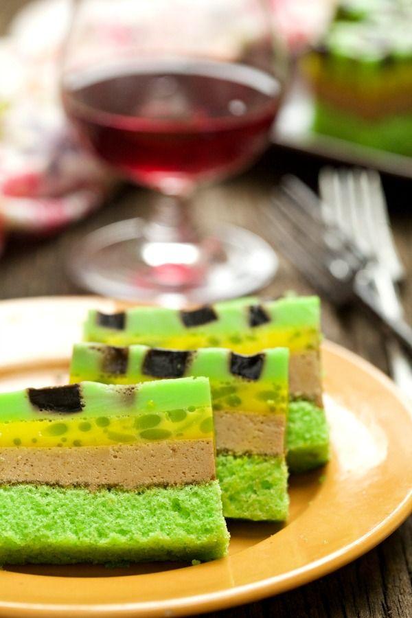 masam manis: Puding Kek Cendol dan Cincau
