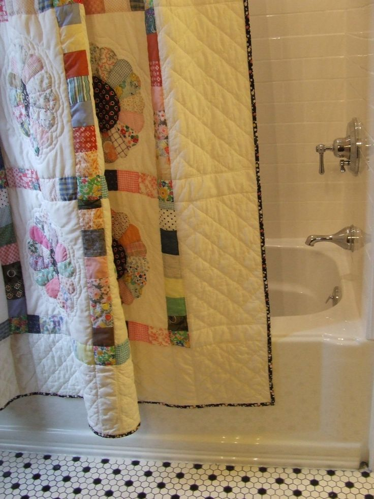 Best 25+ Quilted Shower Curtains images on Pinterest | Country ...