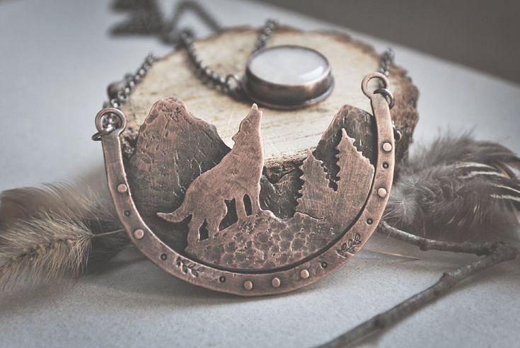 Howling Wolf Necklace by twistedjewelry.deviantart.com on @DeviantArt
