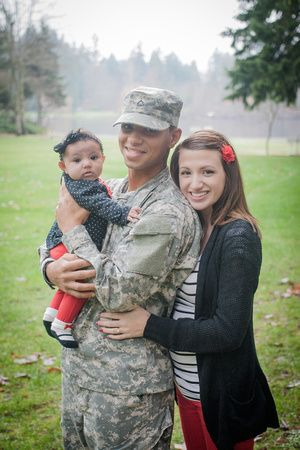 Military family photo session! (Baby is 3 months)