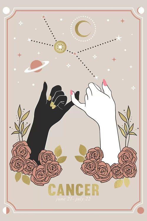 Cancer Canvas Art by Emanuela Carratoni | iCanvas Cancer Zodiac Art, Zodiac Characters, Image Deco, Posca Art, Cancer Moon, Cancerian, Canvas Prints, Art Prints, Canvas Art