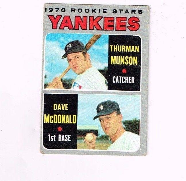 1970 Topps Yankees Rookie Stars Thurman Munson Dave