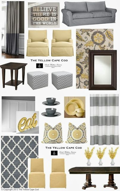 Gray, Blue U0026 Yellow    Liking This For The New Living Room /