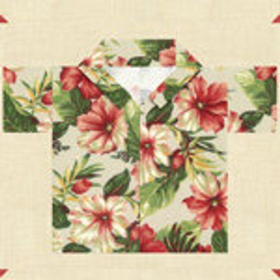Sunshine Hawaiian Shirt Quilt Pattern - by Moda - Paper Pattern in ...