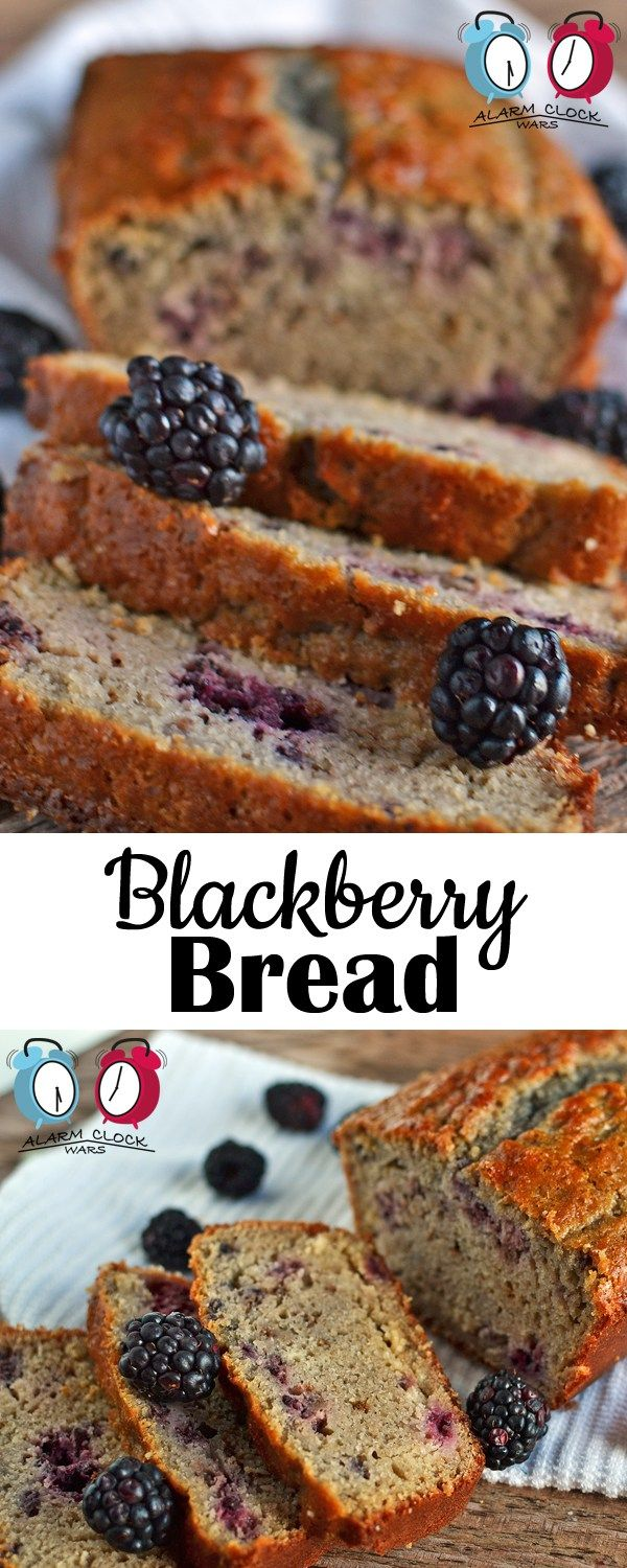 Blackberry Bread from Alarm Clock Wars. Make this quick and easy Blackberry Bread recipe with fresh summer blackberries, or use frozen blackberries to get a taste of summer any time of the year!