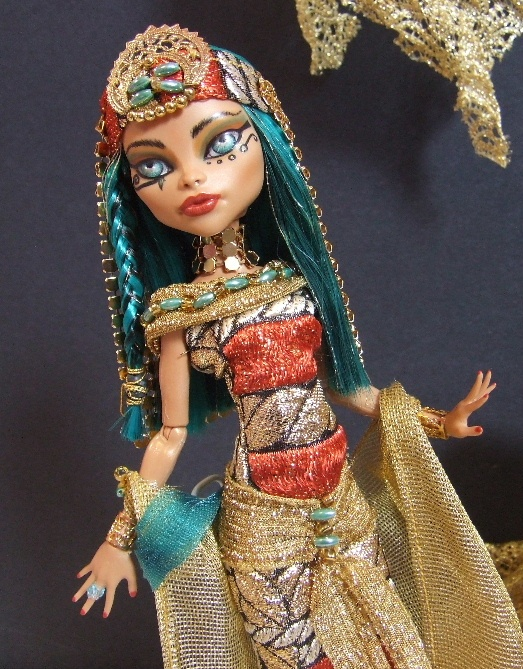 Nefera monster high cleo nefera de nile customs pinterest - Nefera de nile ...