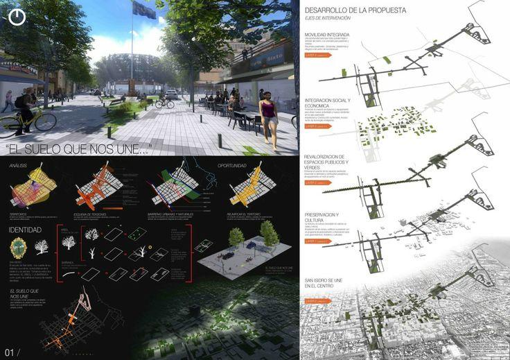 Tercer Lugar Concurso Nacional de Ideas para la Renovación urbana del área centro de San Isidro