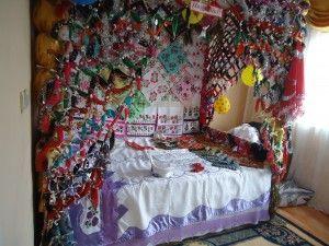 köy sünnet düğünü yatak dekoru