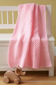 Free Crochet Pattern: Jolly Baby Throw fr Lion Brand.  Skill Level: Easy +