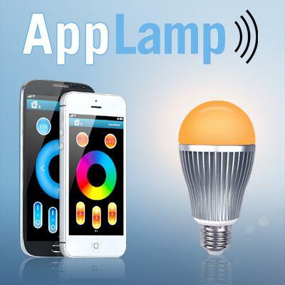 Deel AppLamp met je vrienden via Facebook, Twitter of Google+ en krijg een kortingscode van € 5,- ! Schrijf hier je bericht. 4-PACK 6 Watt Wi-Fi LED Kleuren Lampen + Wifi Box + Remote