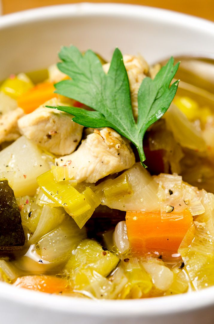 There is just so much goodness packed into this chicken vegetable soup. So delicious.