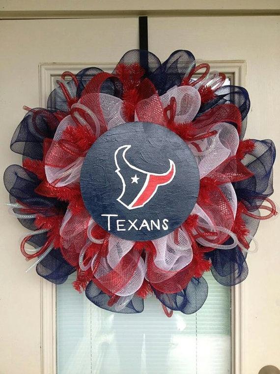Houston Texans Door Wreath by SouthernWreathDesign on Etsy