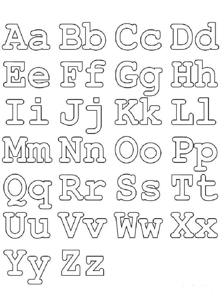 Раскраски английский алфавит | Трафареты букв, Письмо и ...
