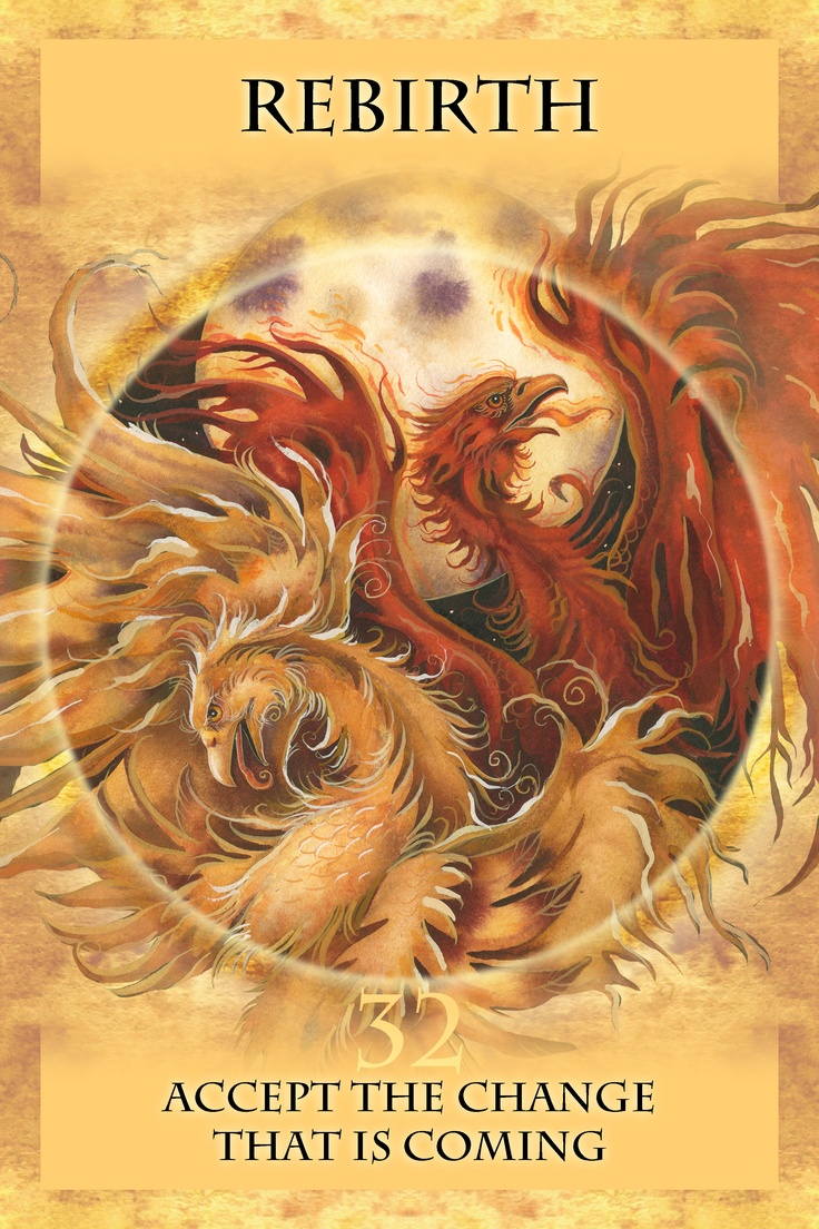 The phoenix is a symbol of triumph over adversity.