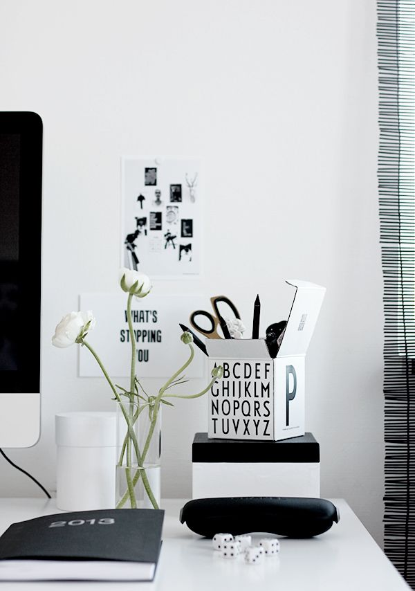 Via Silver Blonde | Home Office | Black and White | Design Letters