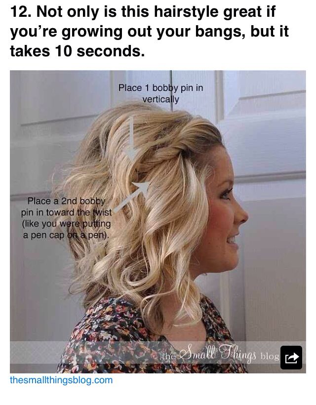 Cute way to pin back bangs